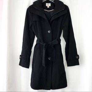 Gallery Black Trench Coat / Rain Coat